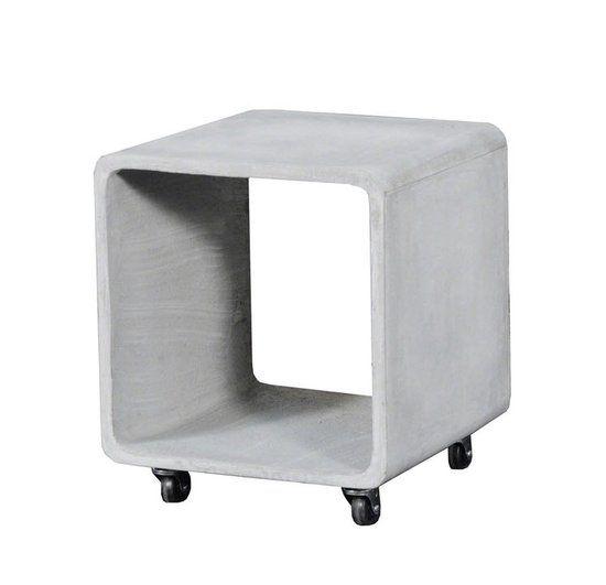 Bijzettafel Cube Beton 40cm Wheels |  | 7081264352244