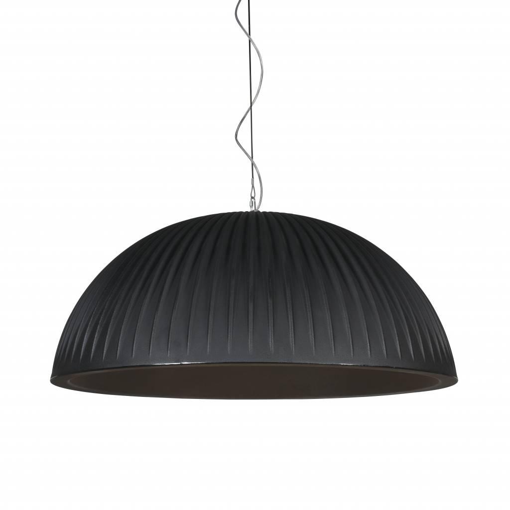 Formadri Hanglamp Basic Dome 90 Rib Black | Formadri | 7101129392489
