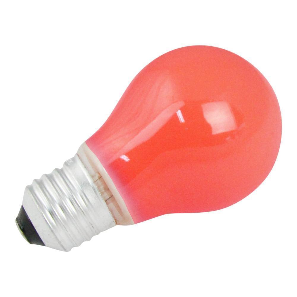 Gloeilamp E27 15w 230v Rood   Lampdirect Huismerk   8718226346568