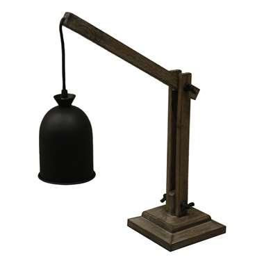 HSM Collection tafellamp – oud grijs/zwart -42x17x53 cm   8719244412624