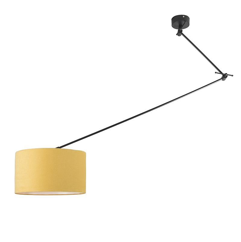 Hanglamp Blitz I zwart met kap 35cm mais | QAZQA | 8718881070099