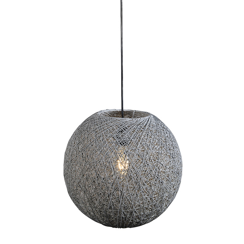 Hanglamp Corda 35 grijs   QAZQA   8718881048029