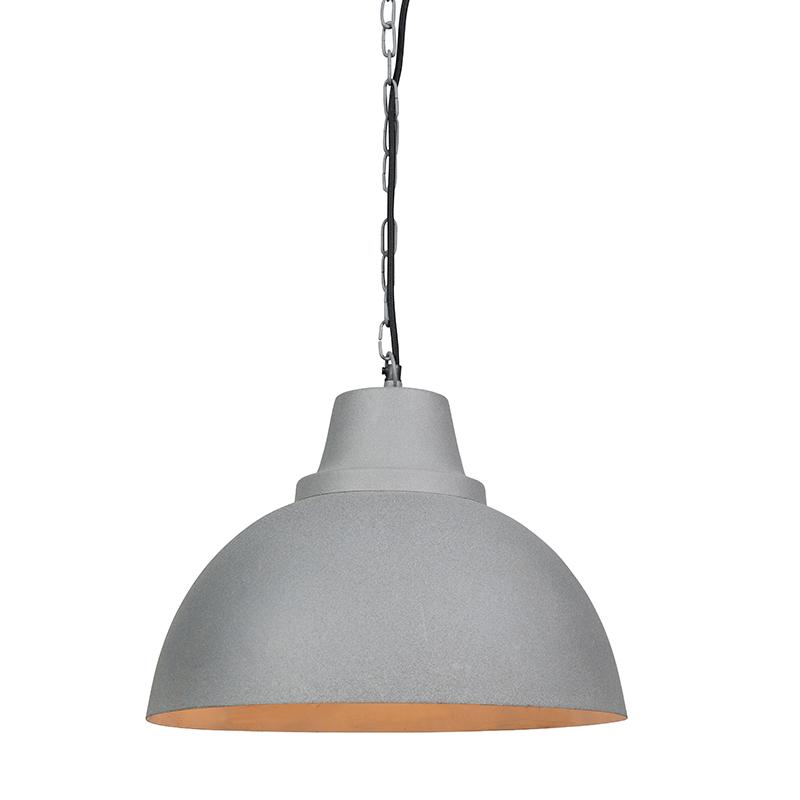 Hanglamp Falcon grijs met witte binnenkant | QAZQA | 8718881054730