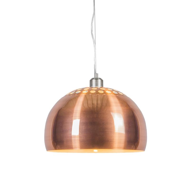 Hanglamp Globe 33cm mat koper | QAZQA | 8718881034992