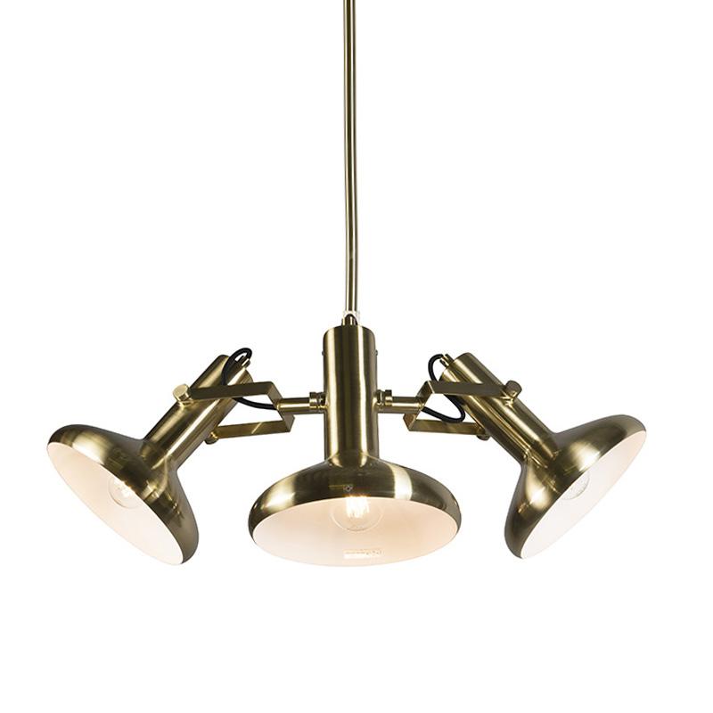 Hanglamp Grace 3 goud | QAZQA | 8718881046612