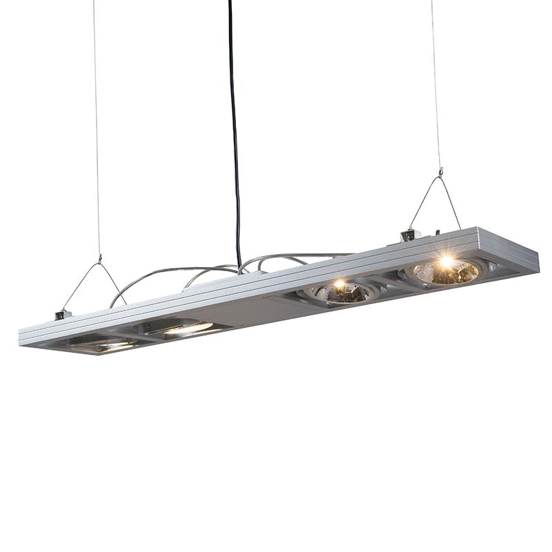 Hanglamp Kardan 4 lang aluminium | QAZQA | 8718881001468