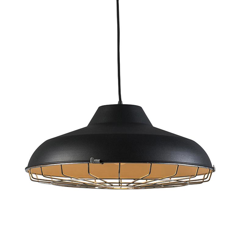 Hanglamp Lucas zwart | QAZQA | 8718881041013