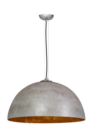 Hanglamp Mezzo Tondo Beton Grijs / Goud 50cm Ø |  | 8719226341041