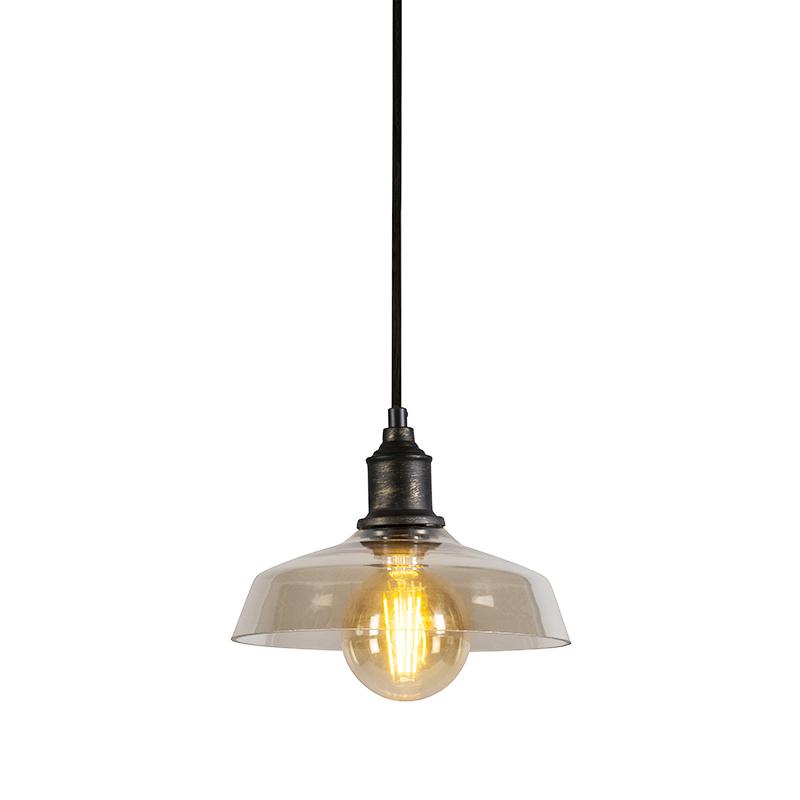 Hanglamp Ostra bruin   QAZQA   8718881049309