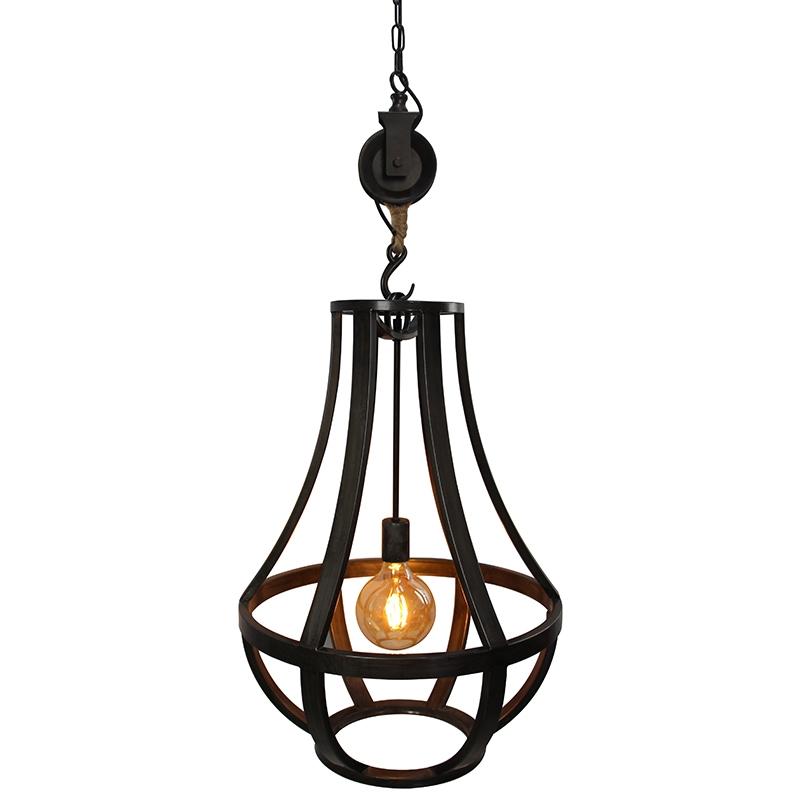 Industriele ronde hanglamp gebrand staal 50cm – Morgana | Prisma Leuchten | 8718881078460