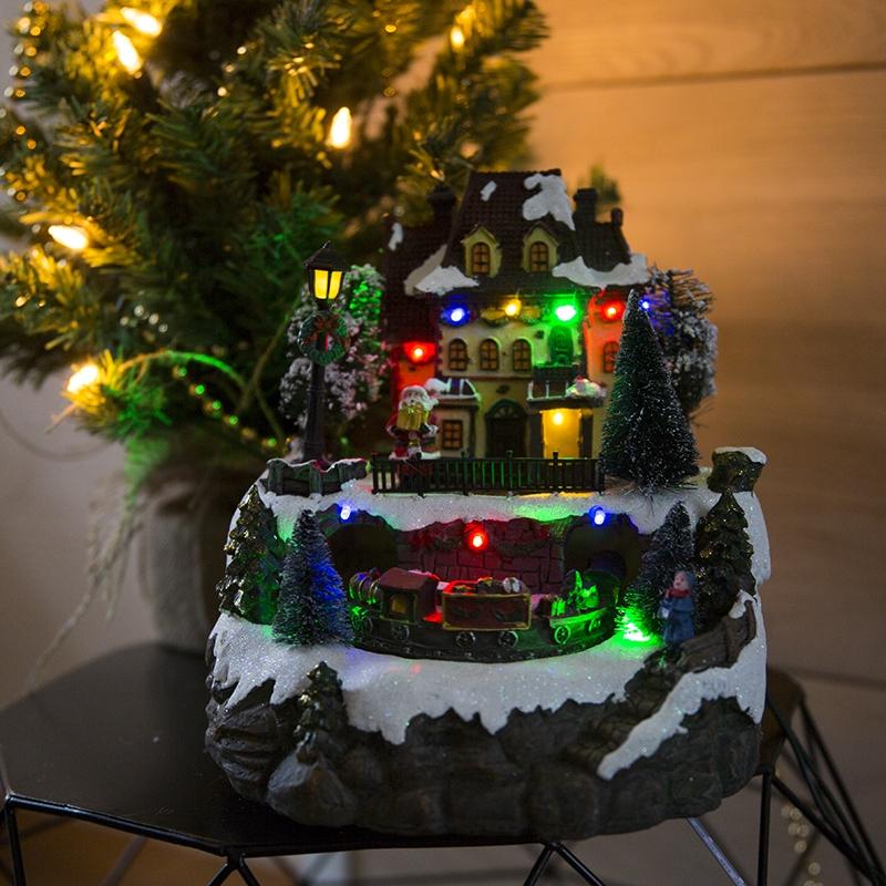 Kersthuisje Trein LED multikleur | Kaemingk | 8718533564242