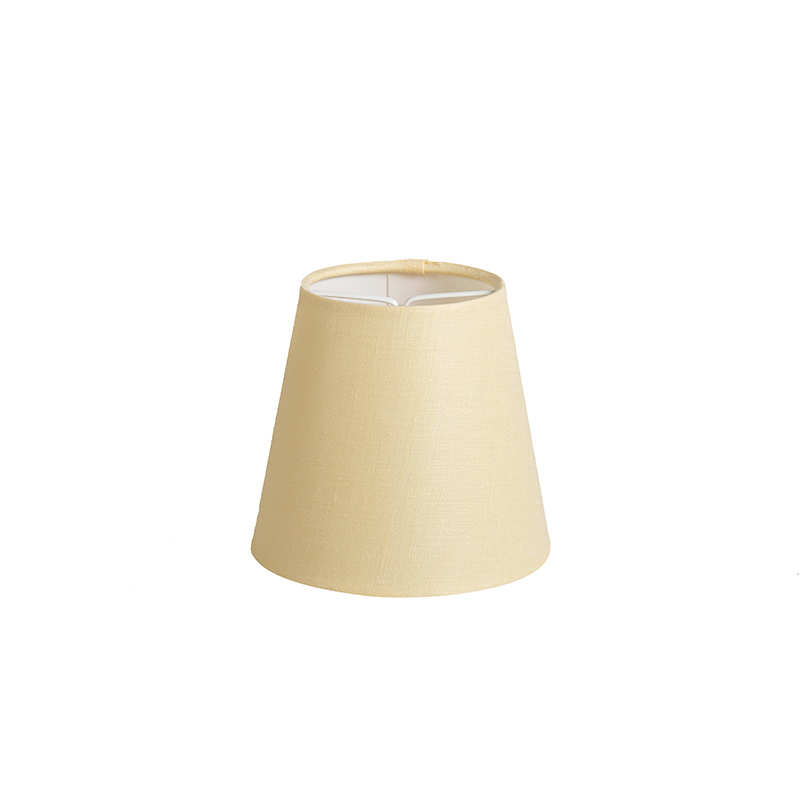 Klemkap 12cm rond SC geel | QAZQA | 8718881041075