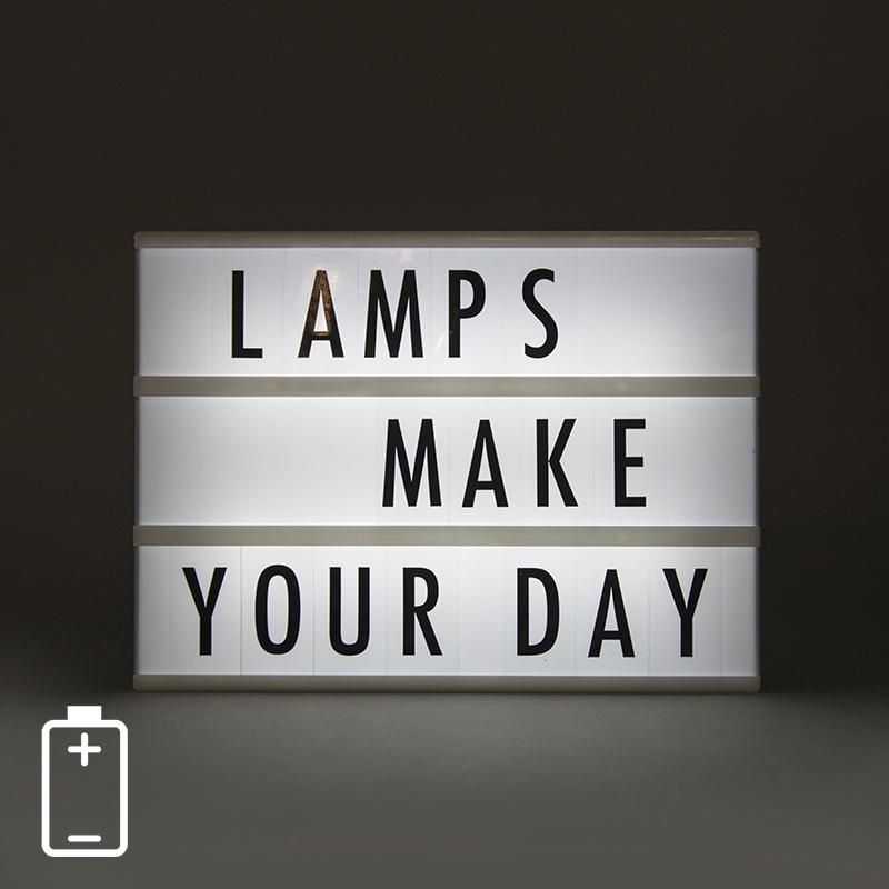 LED Lightbox A4 incl. 85 letters en symbolen |  | 8711387170317