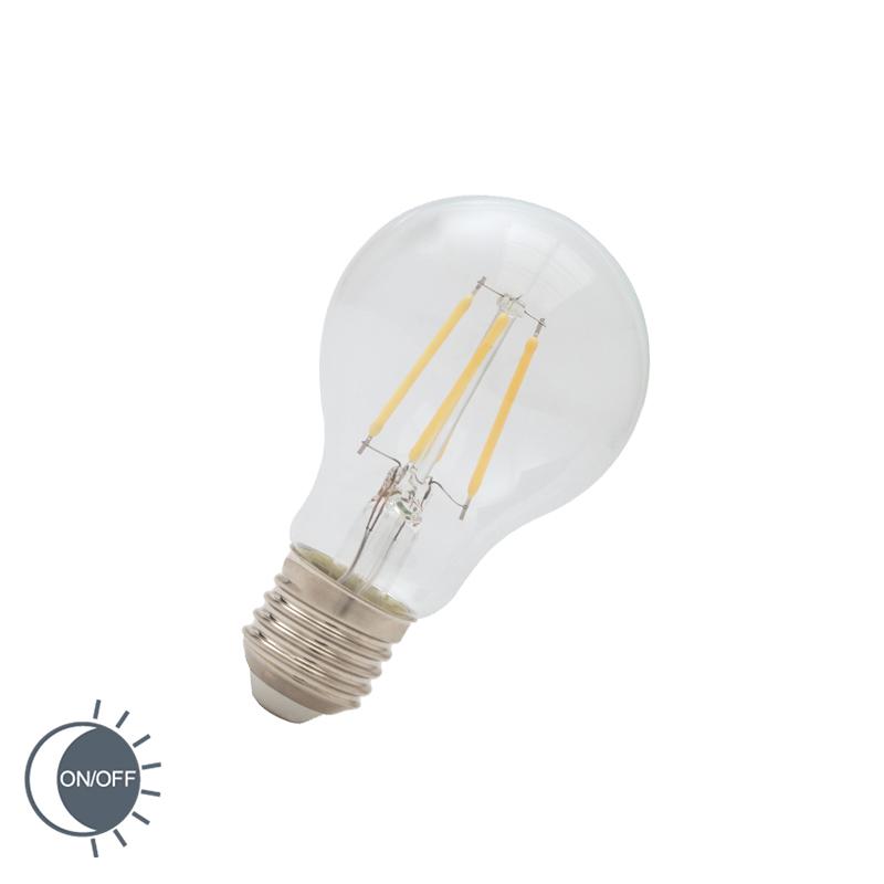 LED filamentlamp E27 4W 400 lumen warm wit 2700K met lichtdonker sensor | Calex | 8712879138730