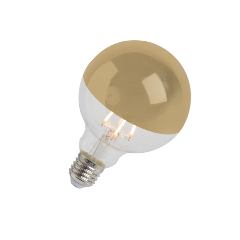 LED filamentlamp kopspiegel goud E27 240V 4W 280lm 2300K G95 dimbaar | Calex | 8712879136194