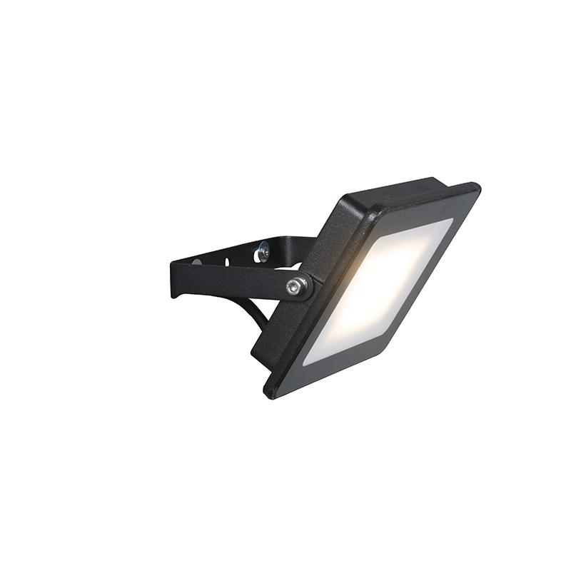 LED straler zwart 20W – Radius 1 | QAZQA | 8718881054525