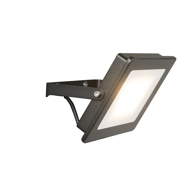 LED straler zwart 30W – Radius 1 | QAZQA | 8718881054532