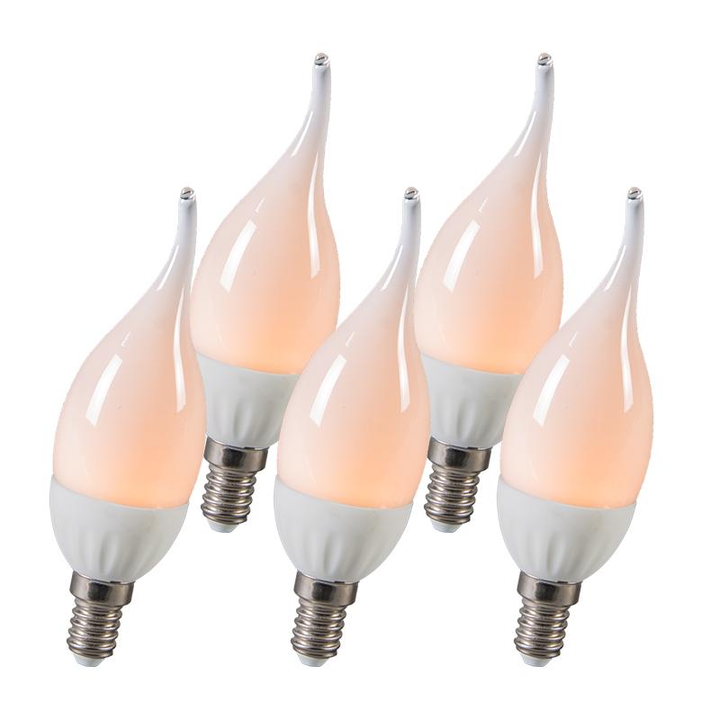 LED tipkaars E14 3W 250 lumen ca. 25W set van 5   QAZQA   8718881053528