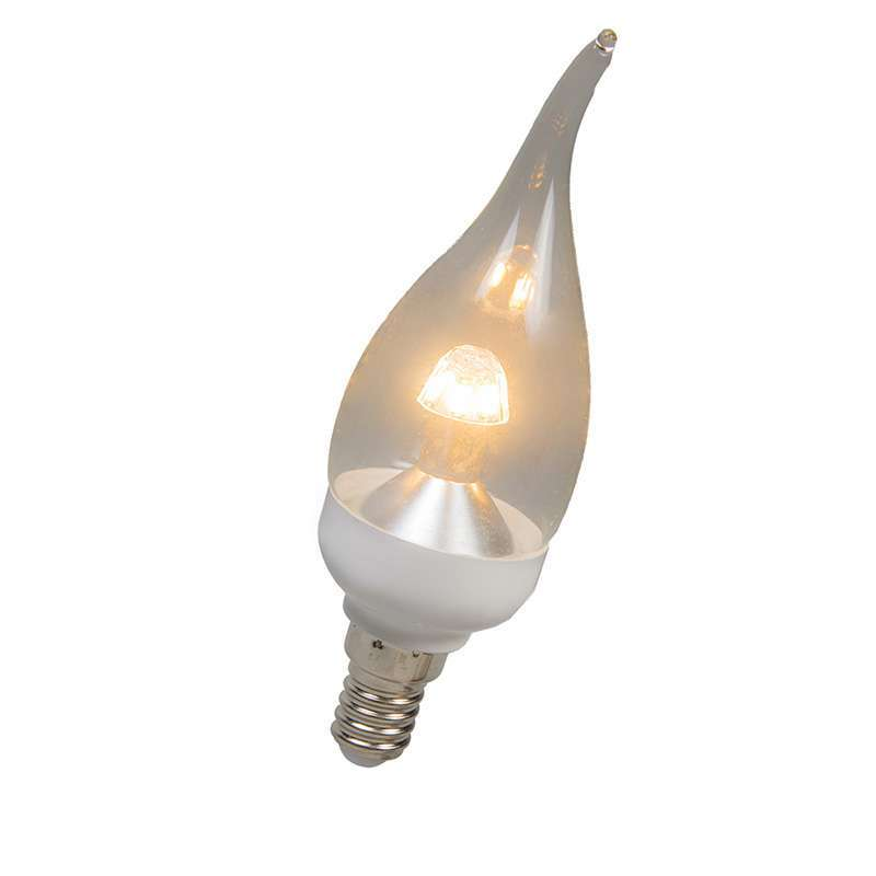 LED tipkaars E14 4W 250 lumen warm wit Dimbaar   Calex   8712879130345