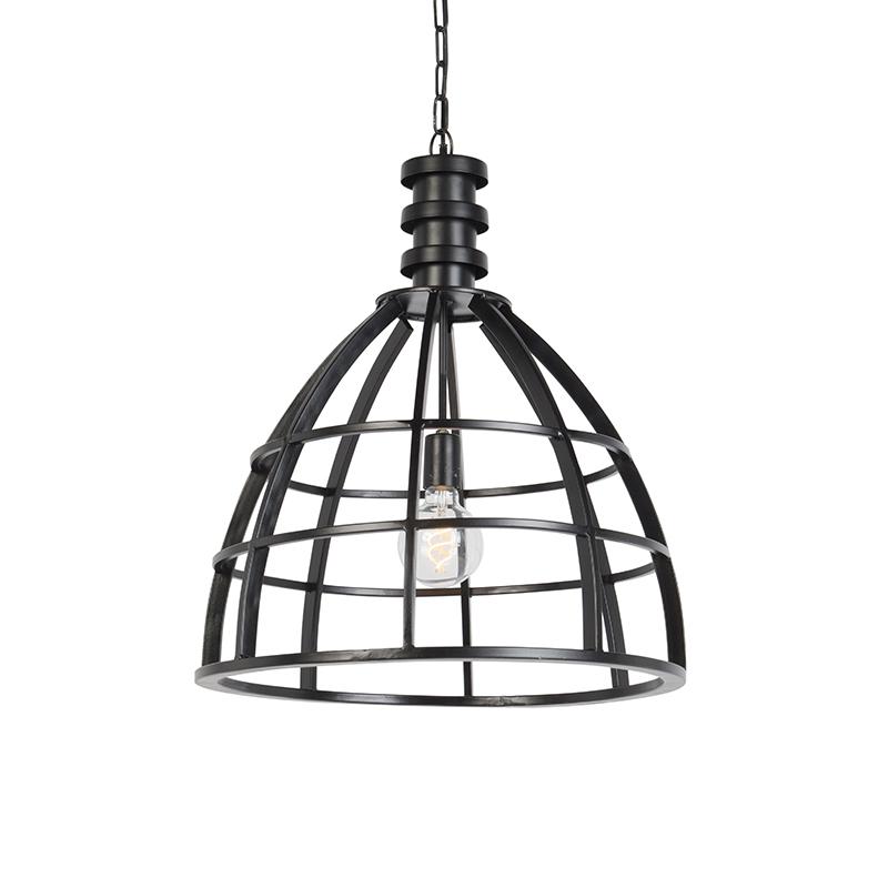 Landelijke ronde hanglamp zwart – Gwen | Light and Living | 8717807203504