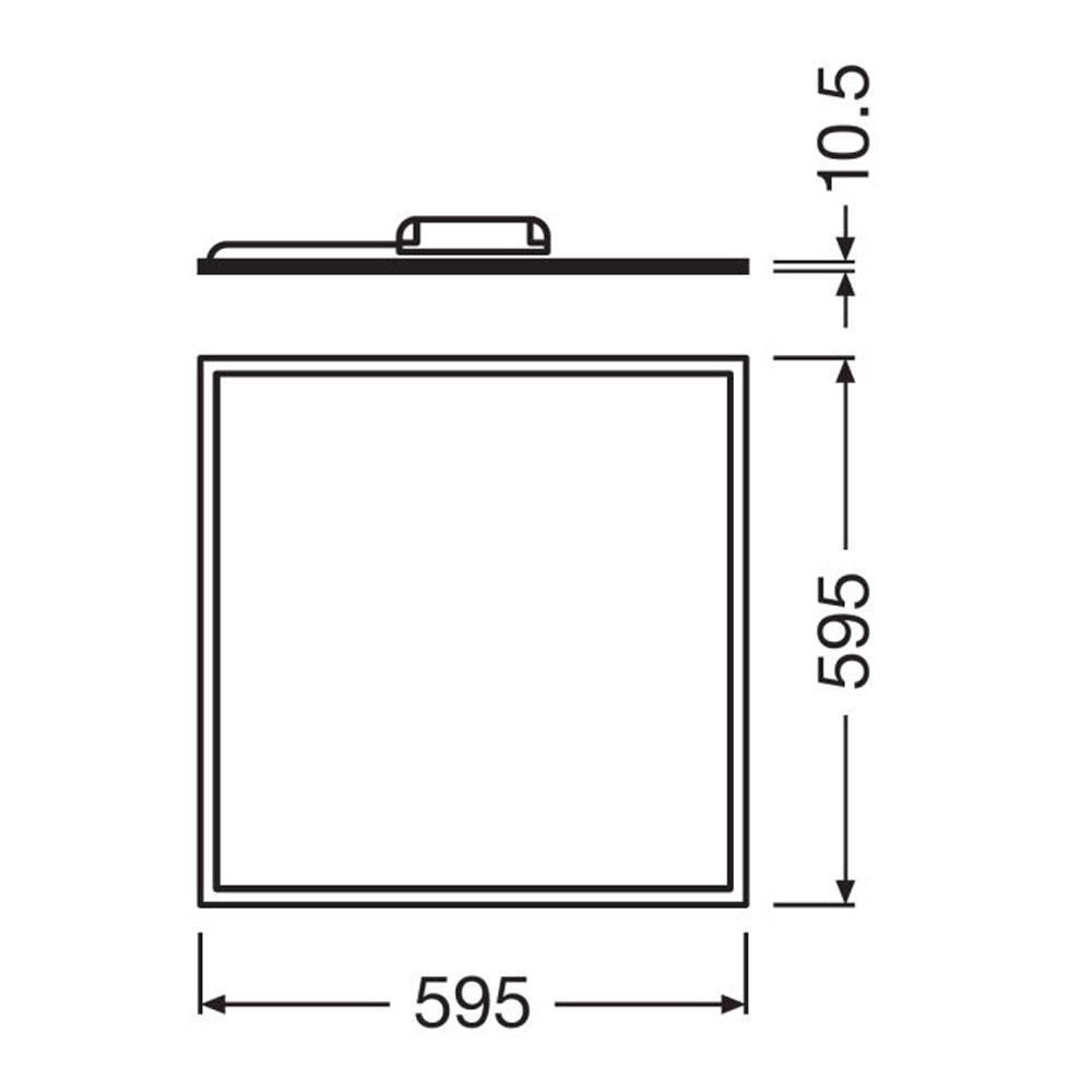 Ledvance LED Paneel 60x60cm 3000K 40W | Warm Wit – Vervangt 4x18W | Ledvance | 4058075000544