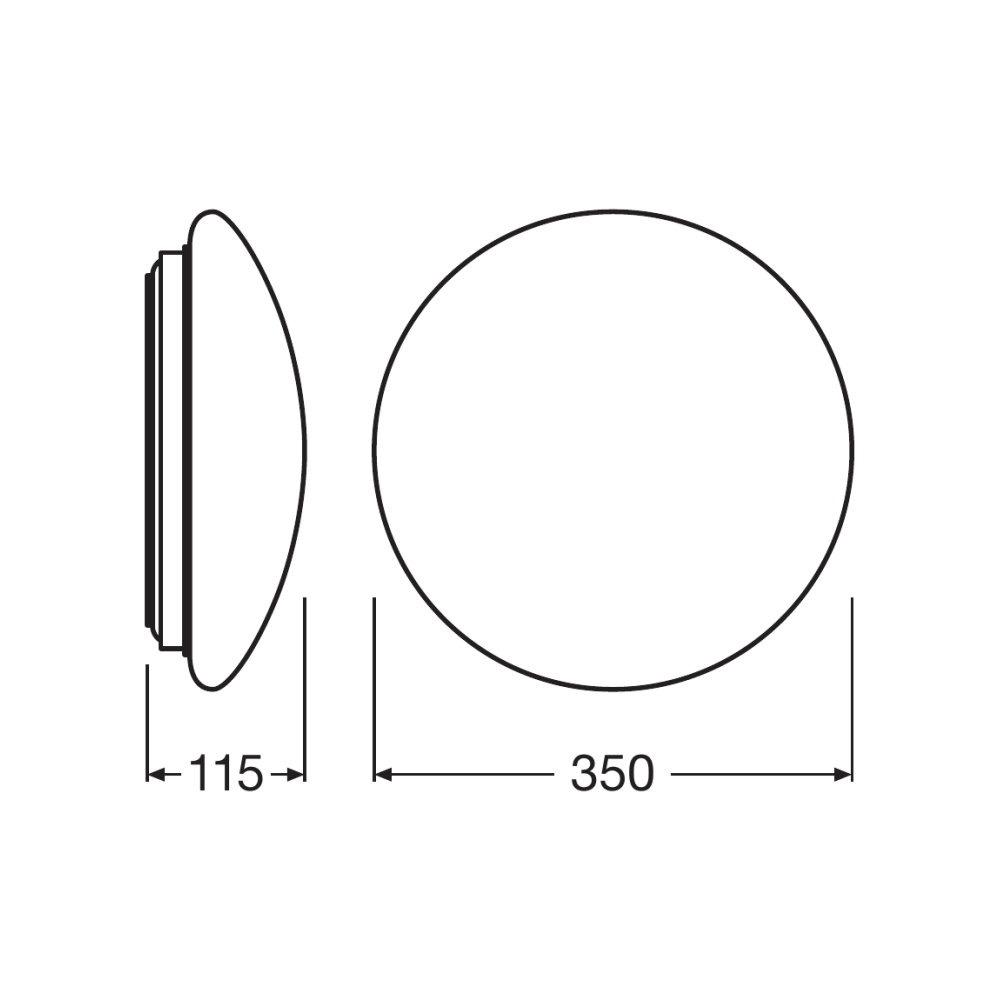 Ledvance LED Surface-C 350 18W 3000K IP44   Vervangt 2x18W   Ledvance   4058075000742