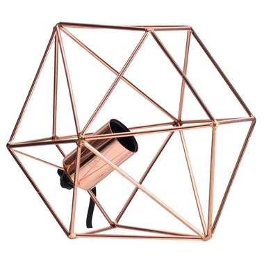 Lucide tafellamp Octagon – koperkleur – 18 cm | 5411212800190