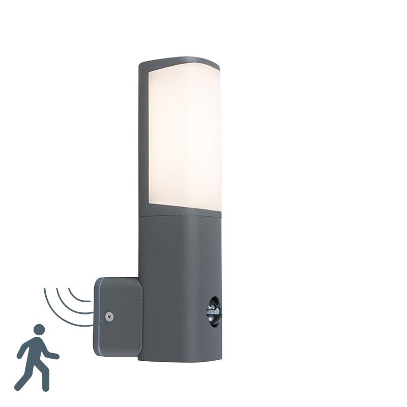 Moderne buitenlamp donkergrijs incl. LED met bewegingssensor – Rico | Trio Leuchten | 4017807279665