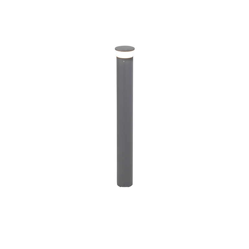 Moderne buitenlamp paal donkergrijs 80cm incl. LED – Bar | QAZQA | 8718881083051