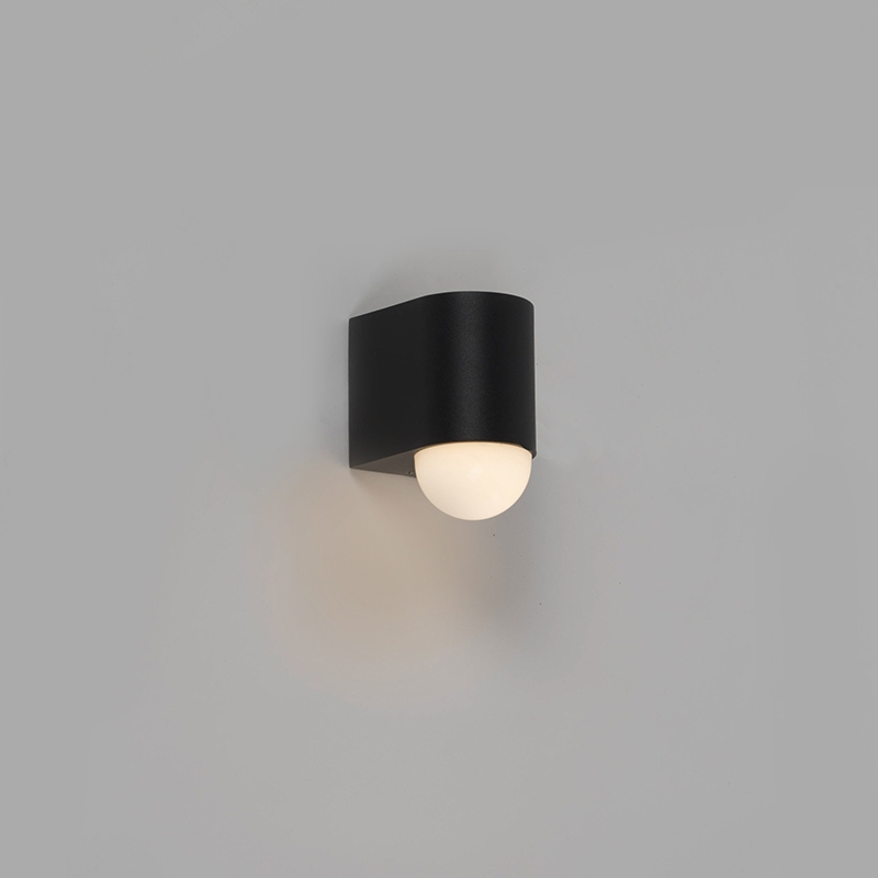Moderne buitenwandlamp zwart incl. LED – Prim   Briloner   4002707305064
