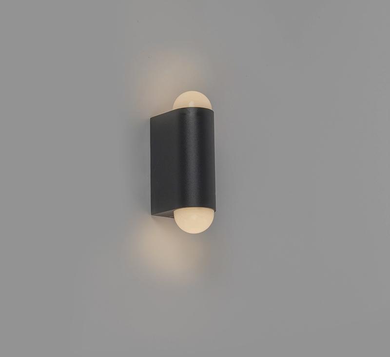 Moderne buitenwandlamp zwart incl. LED met 2 lichtpunten – Prim   Briloner   4002707305057
