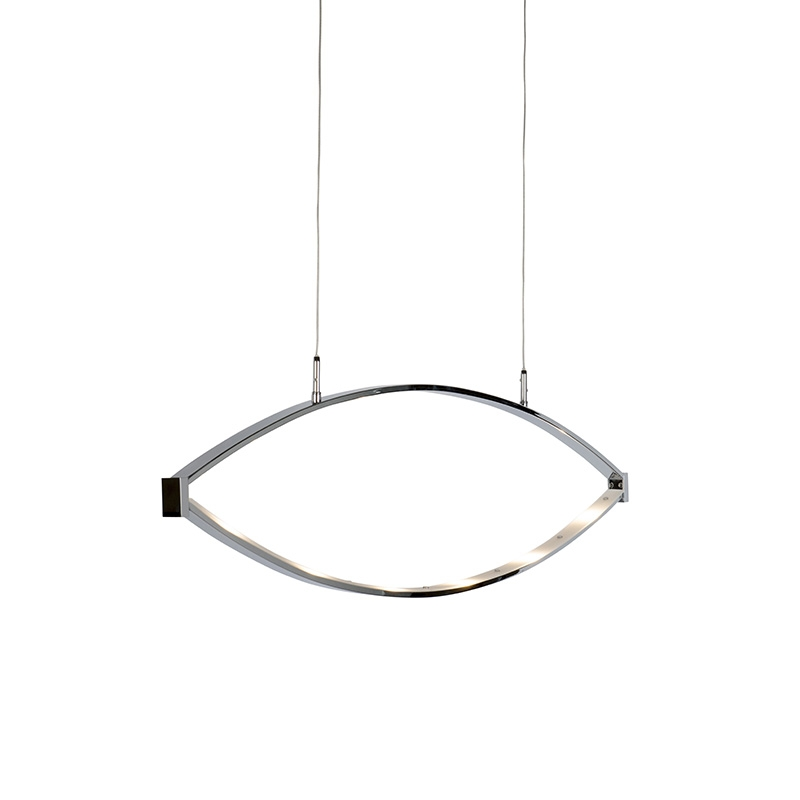 Moderne hanglamp chroom incl. LED – Lois | Honsel | 4001133644860