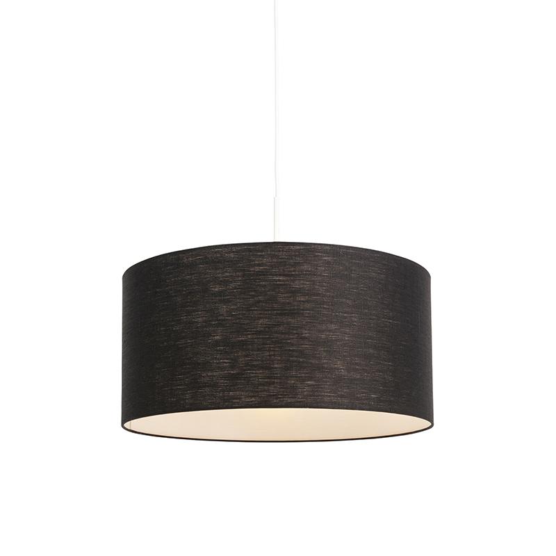 Moderne hanglamp wit met zwarte kap 50cm – Combi 1 | QAZQA | 8718881085307