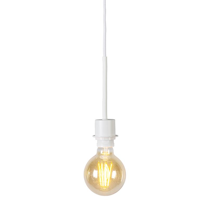 Moderne hanglamp wit zonder kap – Combi 1 | QAZQA | 8718881043758
