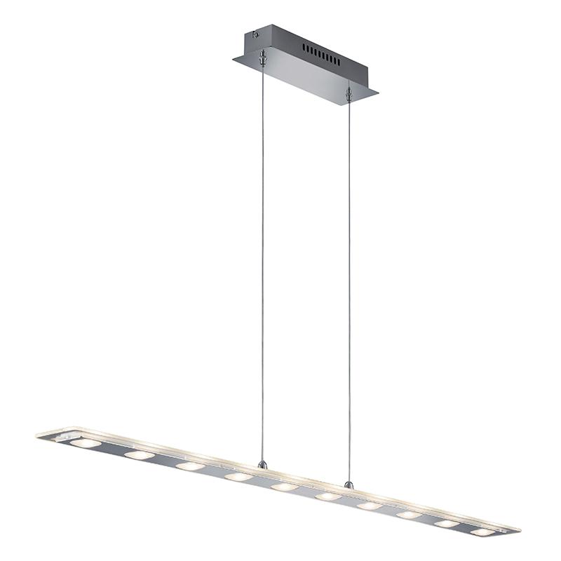 Moderne langwerpige hanglamp chroom – Avenue | ETH | 4017807261790