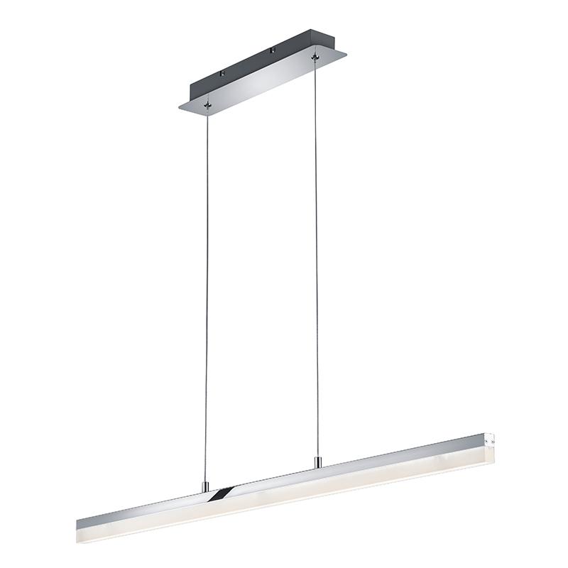 Moderne langwerpige hanglamp chroom incl. LED – Sandro | Trio Leuchten | 4017807282160