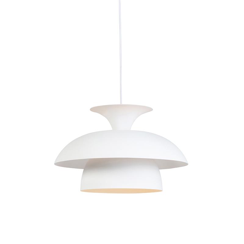Moderne ronde hanglamp wit 3-laags – Titus   QAZQA   8718881081828