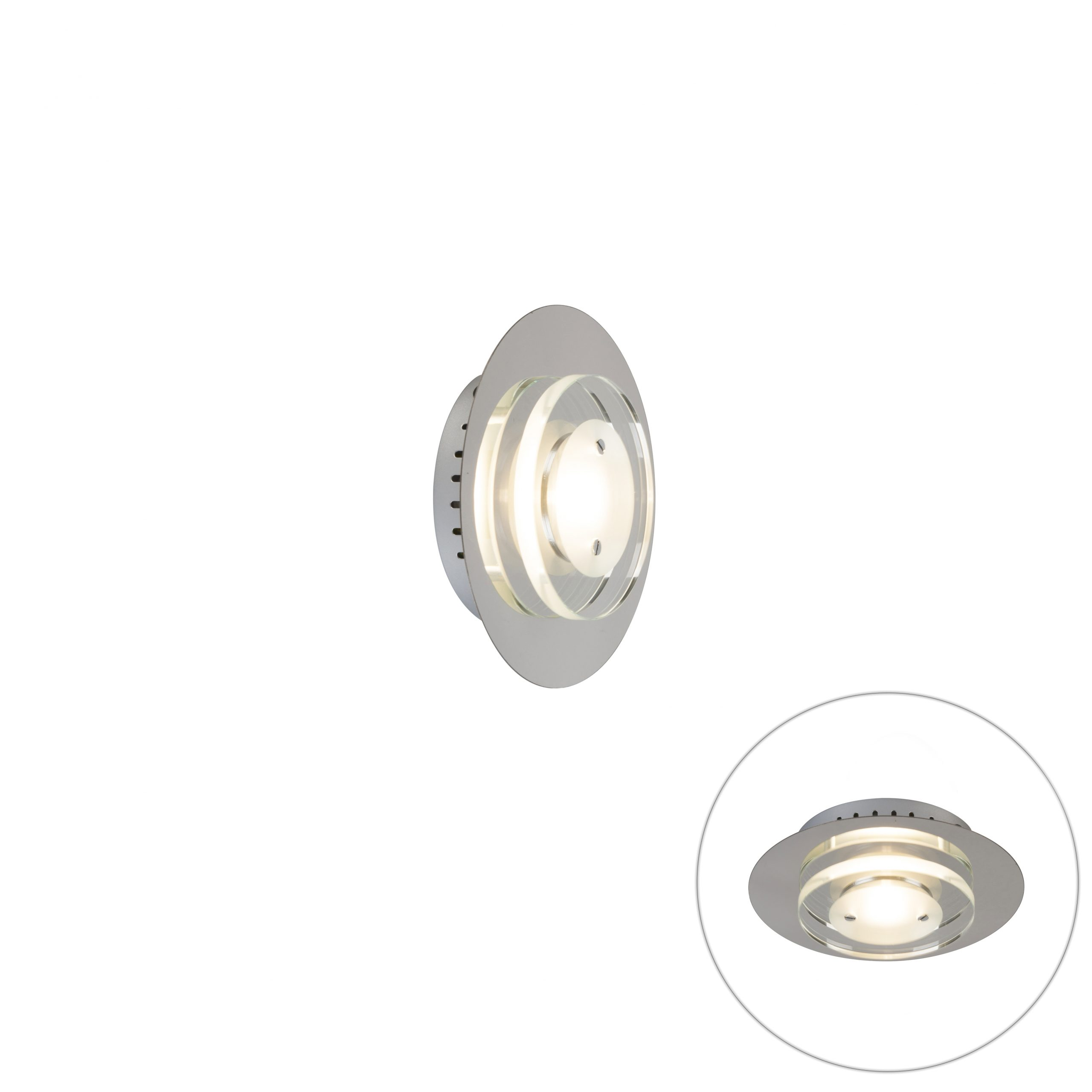 Moderne ronde plafondlamp chrome incl. LED – Alex | Trio Leuchten | 4017807261639