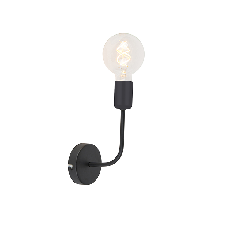 Moderne wandlamp zwart 1-lichts – Facile   QAZQA   8718881084935