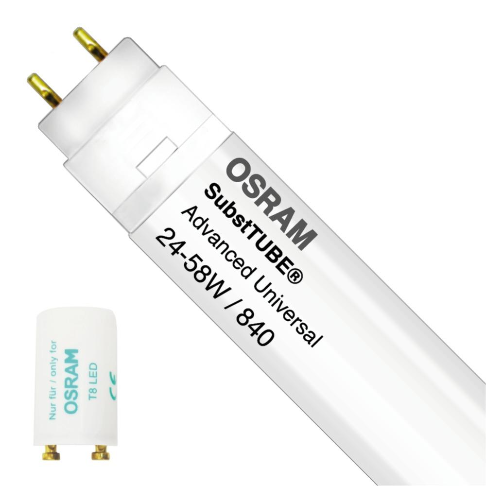 Osram SubstiTUBE Advanced UN 24W 840 150cm | Koel Wit – incl. LED Starter – Vervangt 58W | Osram | 4058075818859