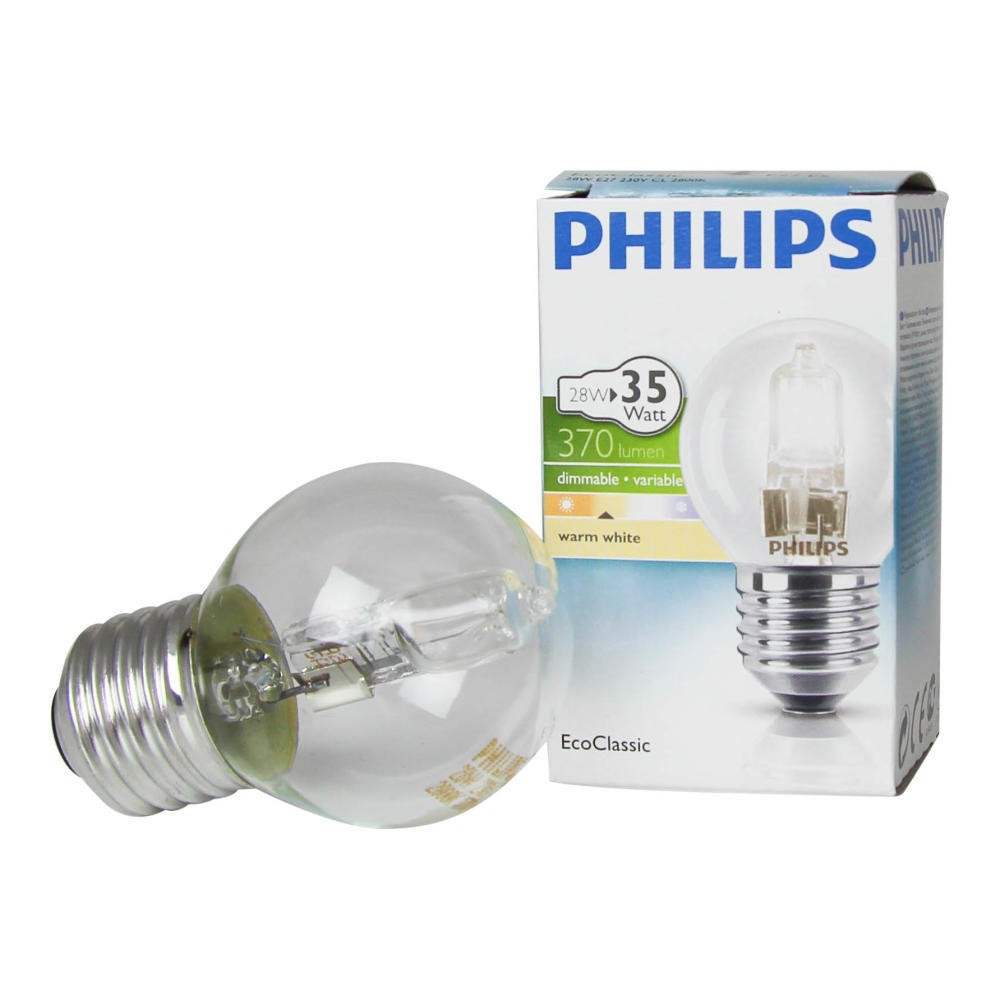 Philips EcoClassic Lustre 28W E27 230V P45 Clear   Philips   8727900831405
