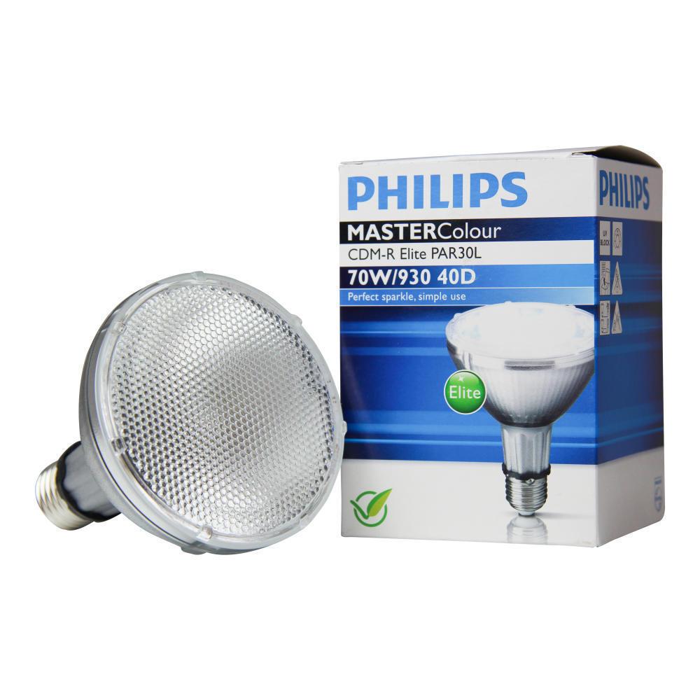 Philips MASTERColour CDM-R Elite 70W 930 E27 PAR30L 40D | Warm Wit – Beste Kleurweergave | Philips | 8718291241904