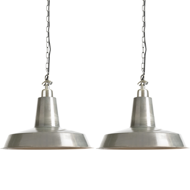 Set van 2 hanglampen Warrior zink | QAZQA | 8718881075100