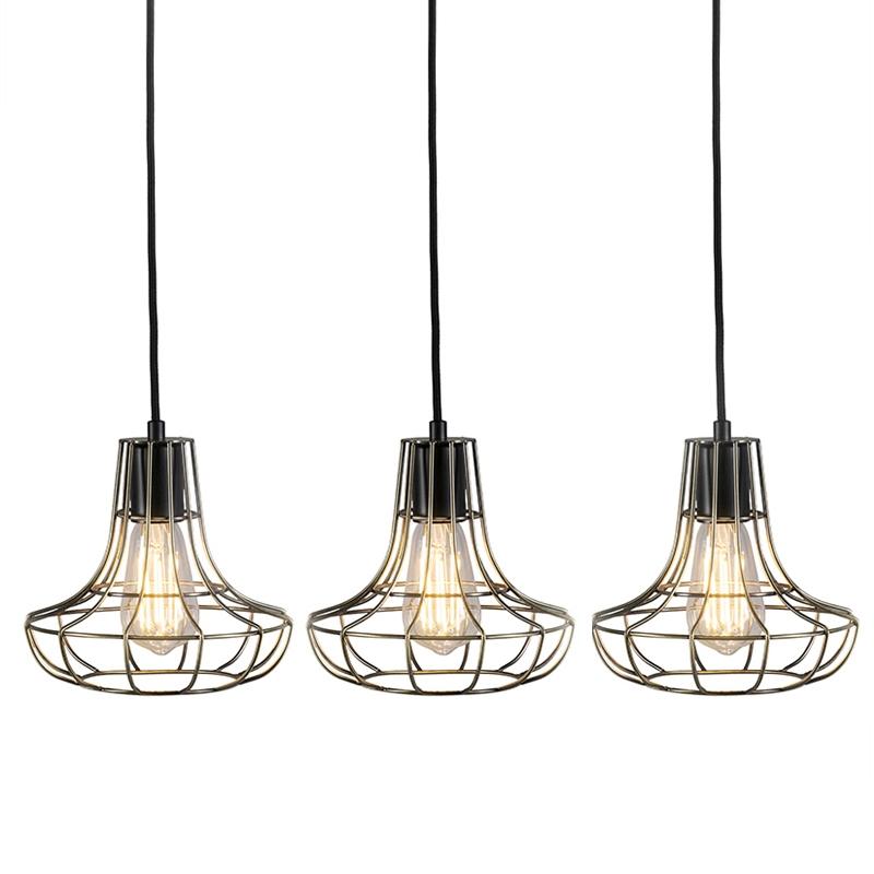 Set van 3 hanglampen Licor Luxe 1 brons | QAZQA | 8718881078606
