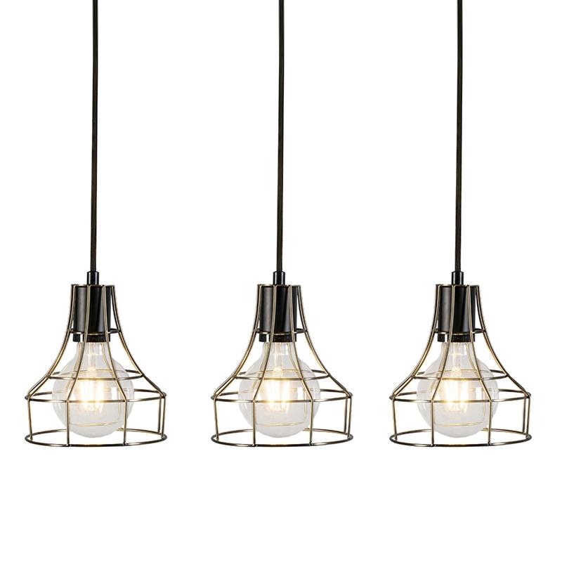 Set van 3 hanglampen Licor Luxe 3 brons   QAZQA   8718881078644