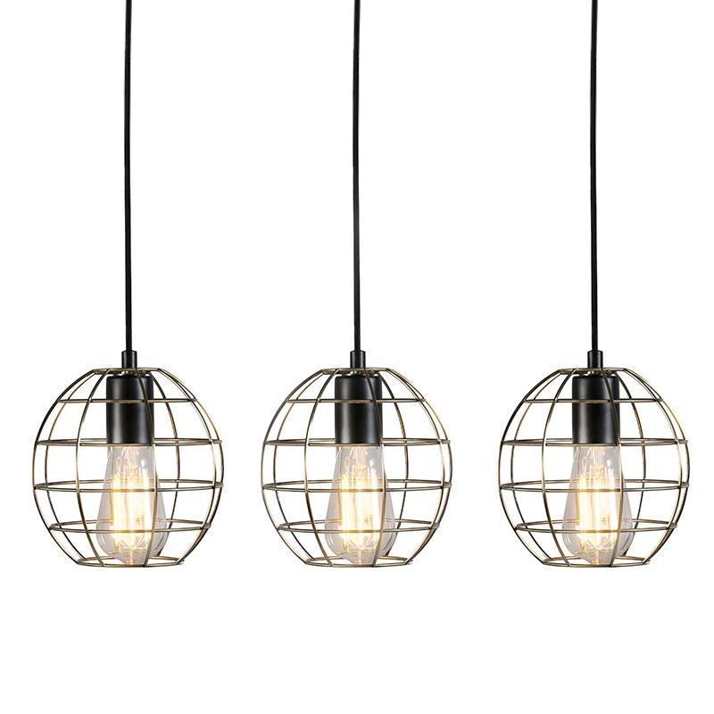 Set van 3 hanglampen Licor Luxe 5 brons | QAZQA | 8718881078675