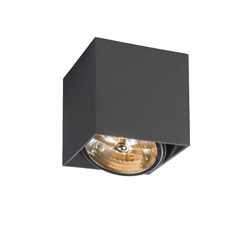 Spot Box 1 donkergrijs | QAZQA | 8718881036040