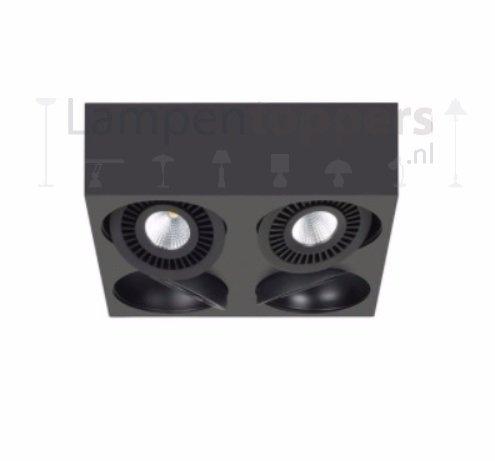 Spot Box Zwart Led 4 Lichts |  | 7106627112072