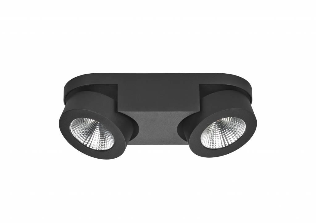 Spot Disc Mat Zwart 2 Lichts |  | 8718379029936