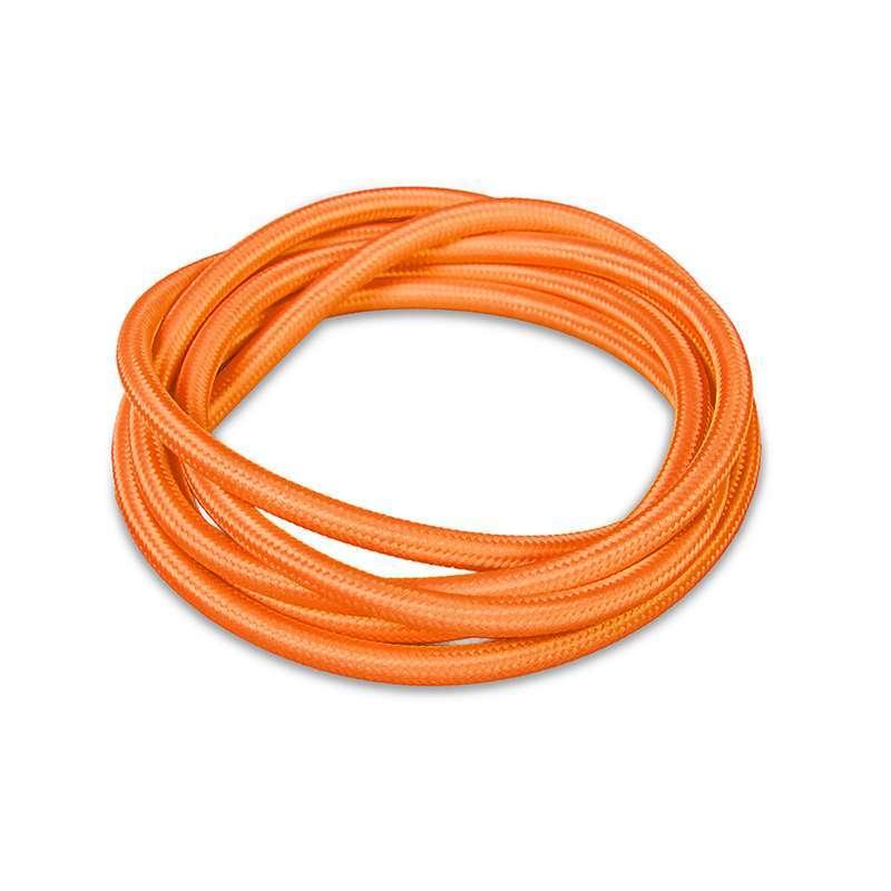 Stoffen kabel 1 meter oranje   QAZQA   8718881027505